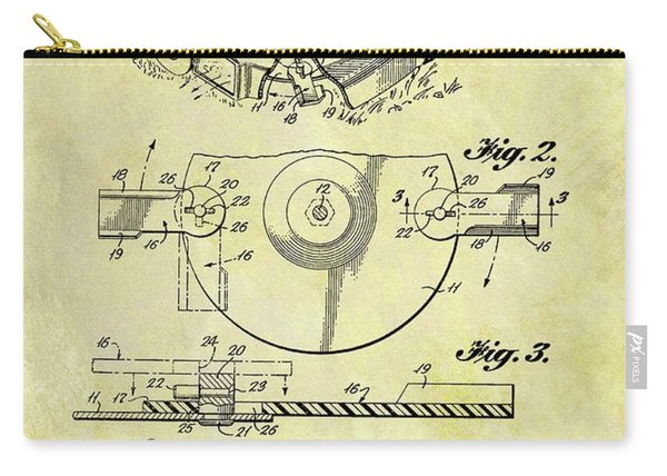1967 Lawn Mower Patent Carry-all Pouch