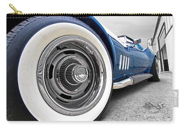 1968 Corvette White Wall Tires Carry-all Pouch