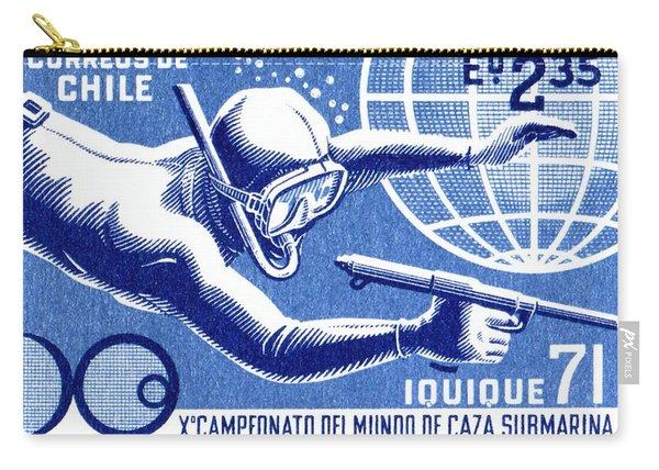 1971 Chile Spearfishing Championship Postage Stamp Carry-all Pouch