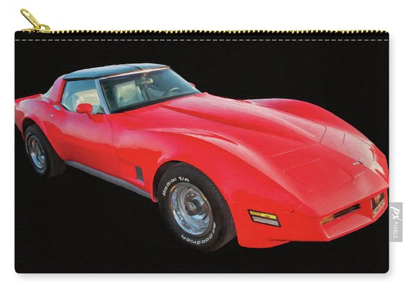 1977 Chevy Corvette T Tops Digital Oil Carry-all Pouch