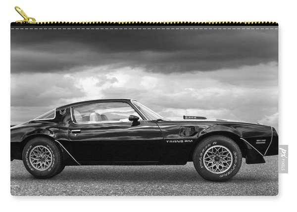1978 Trans Am In Black And White Carry-all Pouch