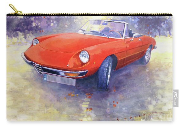 1980 Alfa Romeo Spider 2000 Veloce  Carry-all Pouch