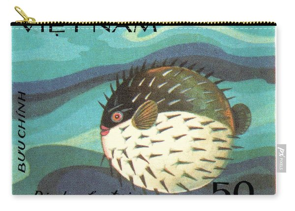1984 Vietnam Spotted Porcupinefish Postage Stamp Carry-all Pouch