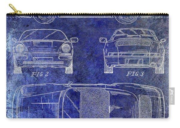 1990 Porsche 911 Patent Blue Carry-all Pouch