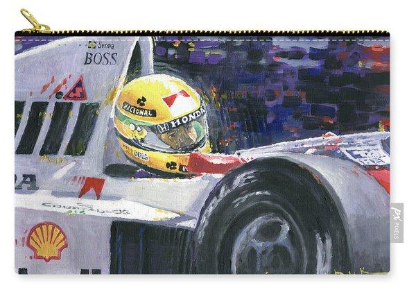1990 Mclaren Honda Mp4 5b Ayrton Senna World Champion Carry-all Pouch