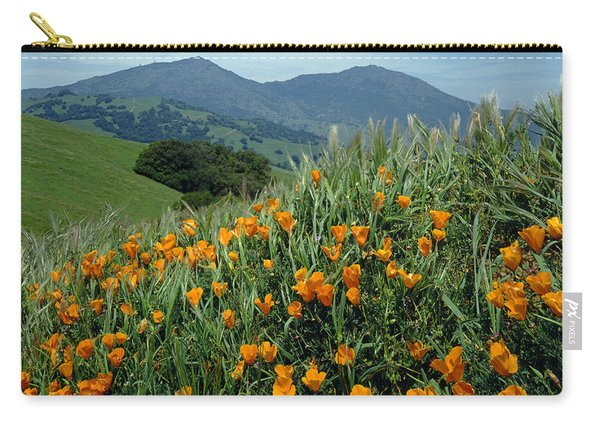 1a6493 Mt. Diablo And Poppies Carry-all Pouch