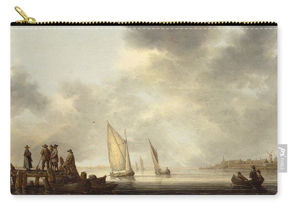 A Pier In Dordrecht Harbor Carry-all Pouch