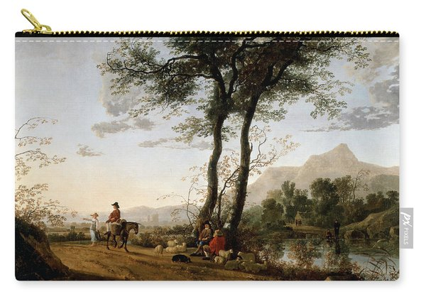 A Road Near A River  Carry-all Pouch
