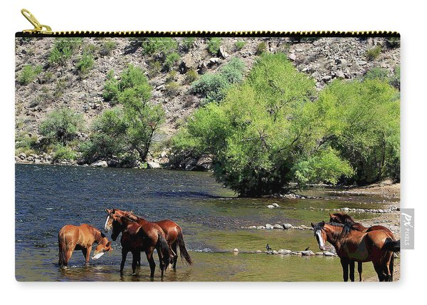 Arizona Wild Horses Carry-all Pouch