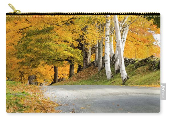Carry-all Pouch featuring the photograph Autumn Road by Tom Singleton
