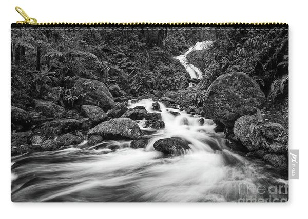 Beautiful Bunch Creek Falls In The Olympic National Park Carry-all Pouch