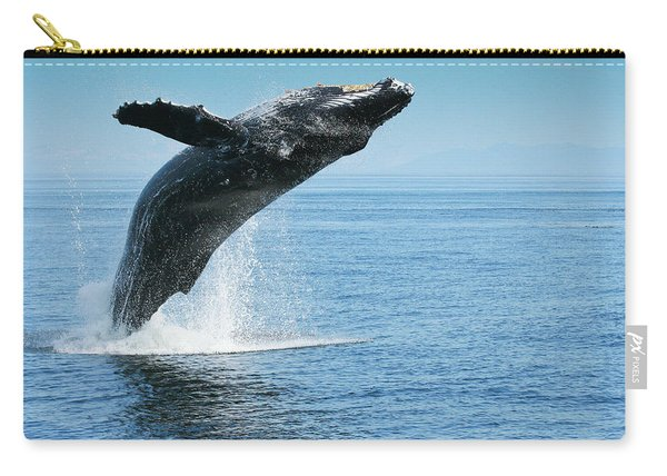 Breaching Humpback Whales Happy-1 Carry-all Pouch