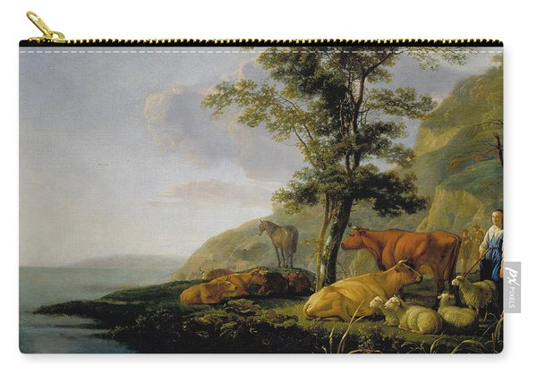 Cattle Near A River Carry-all Pouch