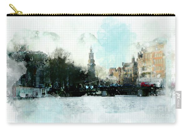 City Life In Watercolor Style Carry-all Pouch