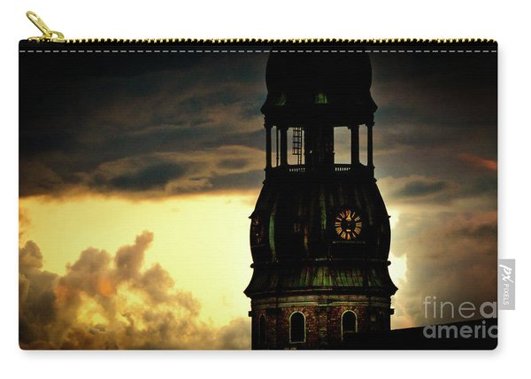 Cloudscape Of Orange Sunset Old Town Riga Latvia Carry-all Pouch