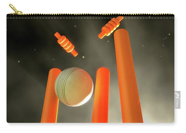Cricket Ball Hitting Wickets Carry-all Pouch