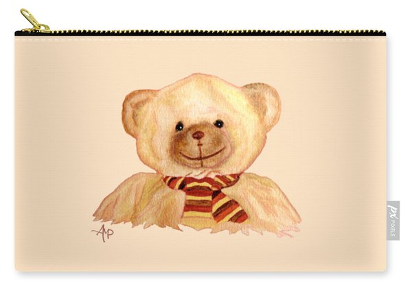 Carry-all Pouch featuring the painting Cuddly Bear by Angeles M Pomata