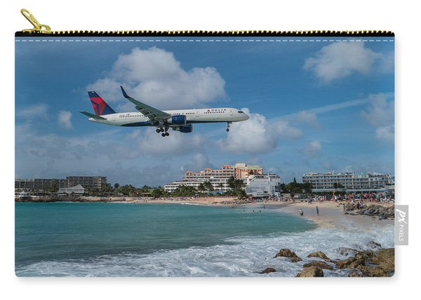 Delta Air Lines Landing At St. Maarten Carry-all Pouch