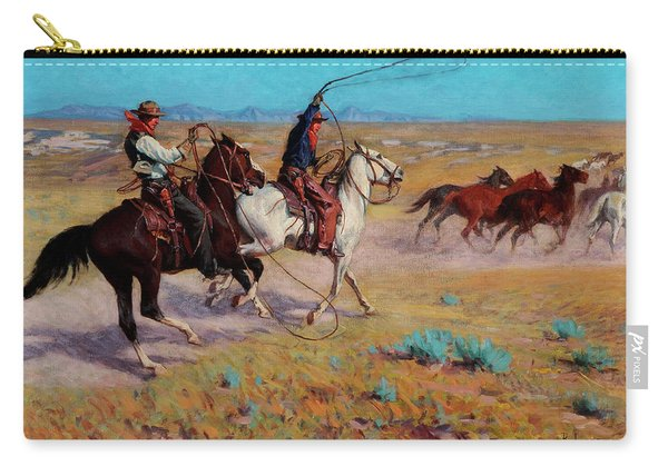 Fading Horses Carry-all Pouch