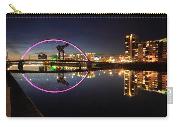 Glasgow Clyde Arc Bridge At Twilight Carry-all Pouch