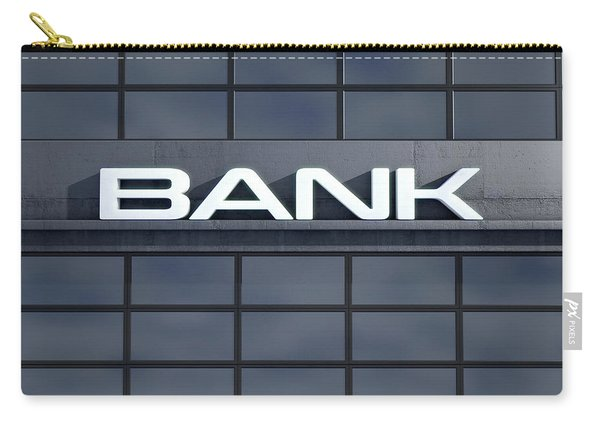 Glass Bank Building Signage Carry-all Pouch