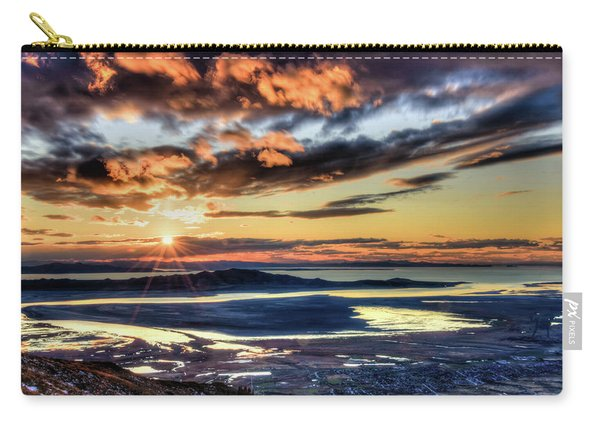 Great Salt Lake Sunset Carry-all Pouch