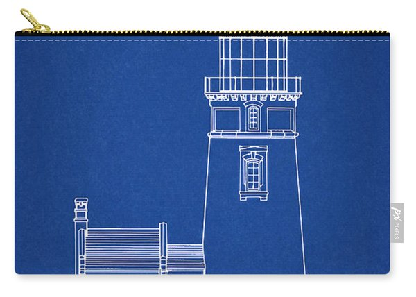 Heceta Head Lighthouse - Oregon - Blueprint Drawing Carry-all Pouch