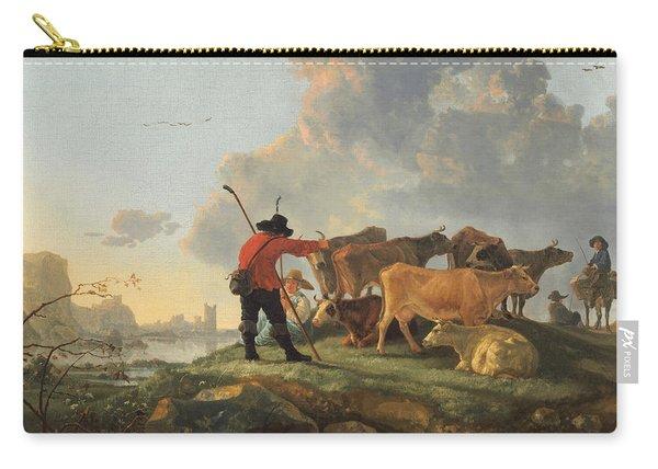 Herdsmen Tending Cattle Carry-all Pouch