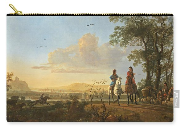 Horsemen And Herdsmen With Cattle Carry-all Pouch