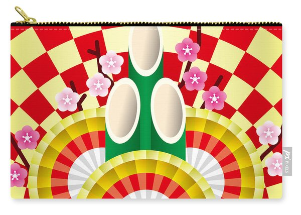 Japanese Newyear Decoration Carry-all Pouch