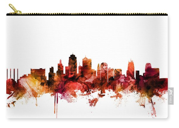 Kansas City Missouri Skyline Carry-all Pouch