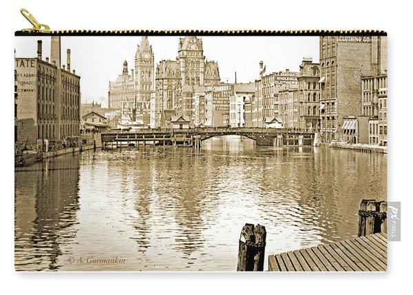 Kilbourn Avenue Bridge, Milwaukee River, C.1915, Vintage Photogr Carry-all Pouch