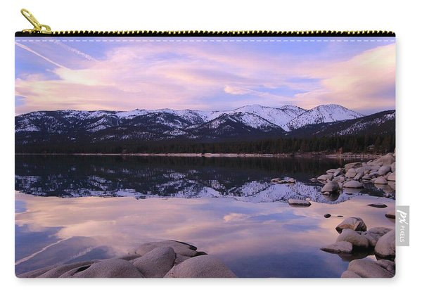 Carry-all Pouch featuring the photograph Lake Tahoe Rocks  by Sean Sarsfield