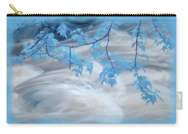 Leaves Over Gossamer Waters Carry-all Pouch