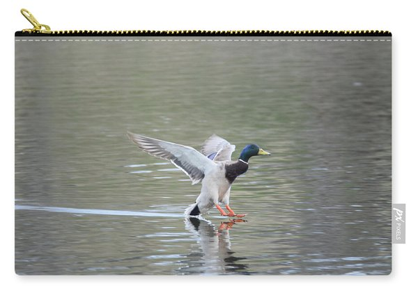 Carry-all Pouch featuring the photograph Mallard Duck Male by Margarethe Binkley