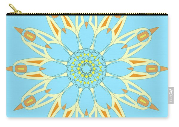 Mandala Cyan And Orange, Star, Abstract Star, Birthday Gift Carry-all Pouch