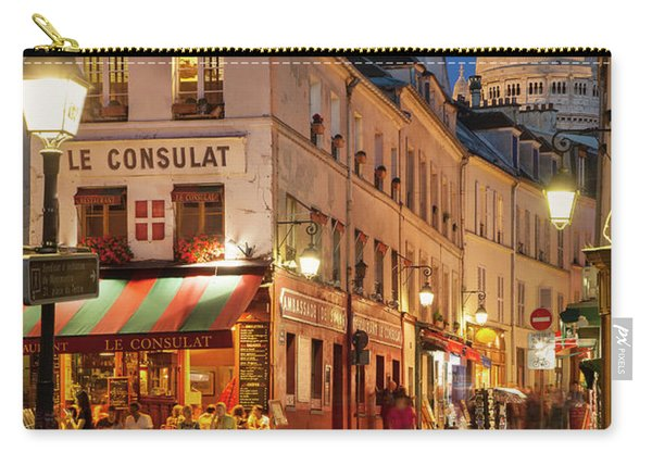 Carry-all Pouch featuring the photograph Montmartre Twilight by Brian Jannsen