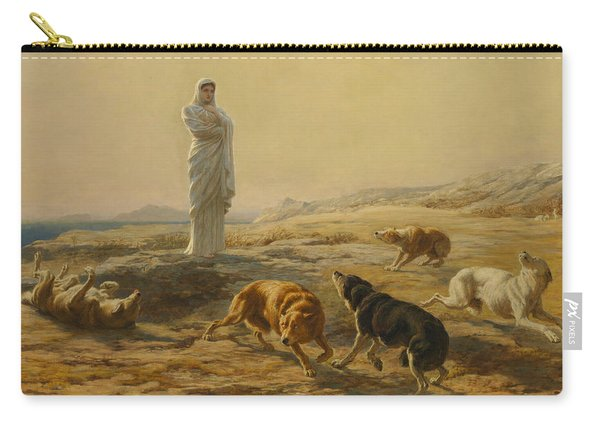 Pallas Athena And The Herdsman's Dogs Carry-all Pouch