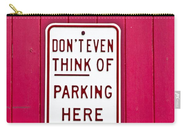 Parking Sign Carry-all Pouch
