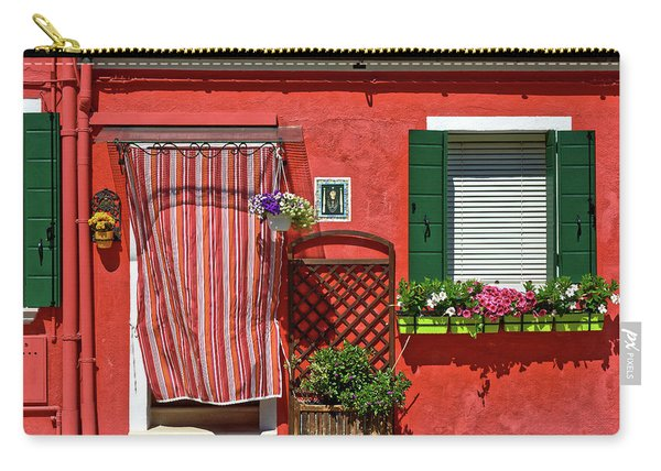 Picturesque House In Burano Carry-all Pouch