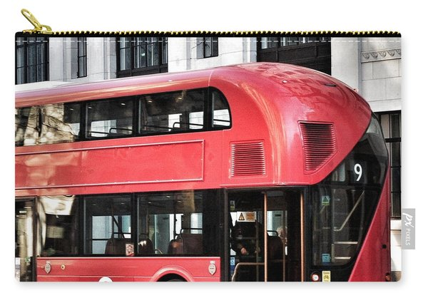 Red Bus In London  Carry-all Pouch