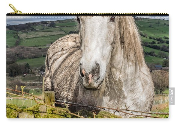 Carry-all Pouch featuring the photograph Rustic Horse by Nick Bywater
