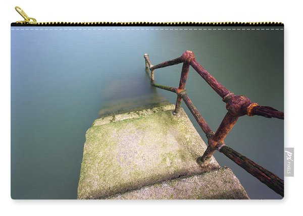 Rusty Handrail Going Down On Water Carry-all Pouch