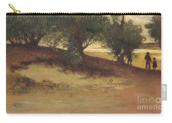 Sand Bank With Willows, Magnolia Carry-all Pouch