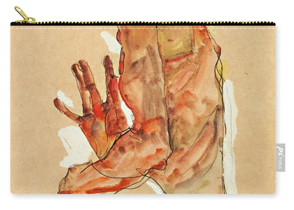Self-portrait With Splayed Fingers Carry-all Pouch