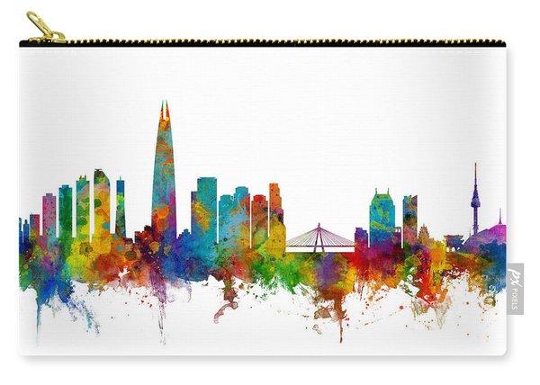 Seoul Skyline South Korea Carry-all Pouch