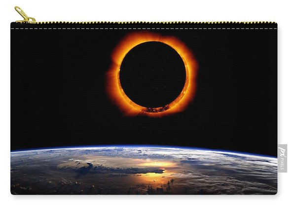 Solar Eclipse From Above The Earth Carry-all Pouch