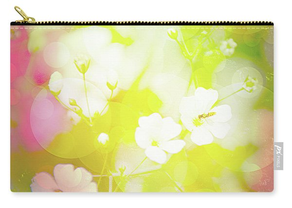 Summer Flowers, Baby's Breath, Digital Art Carry-all Pouch