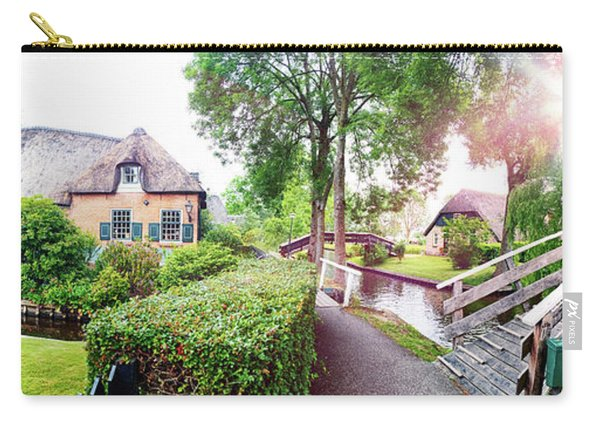 Carry-all Pouch featuring the photograph Summer Panorama Of  Dutch Village by Ariadna De Raadt