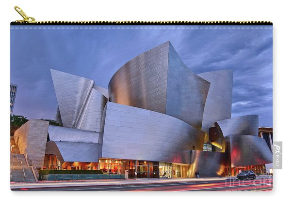 Sunset At The Walt Disney Concert Hall In Downtown Los Angeles. Carry-all Pouch